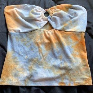 Circle bead tye dye tube top